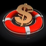 Rescue Coaching represented by a life preserver rescuing a dollar sign