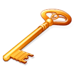 Golden key to represent the Key to Marketplace Presence
