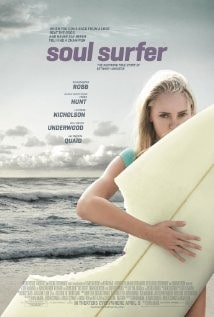 Brilliant Breakthroughs Business Movie Review: Soul Surfer image by IMDb.com of Bethany Hamilton holding her shark bitten surfboard