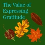 Expressing Gratitude by Briliant Breakthroughs, Inc shown by colorful falling leaves