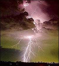Lightning come from a cloud depicting that we never know when threats are going to strike our business