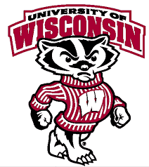 Action Items executed by UW Madison's Mens Basketball Team with college mascot