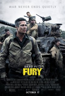 The FURY movie poster with an army tank in World War II