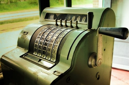 Bathing your business baby can reactivate this rickety old green metal cash register.