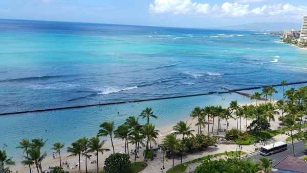 Fresh Perspective... using what is infront of you to improve your business depicted by Waikiki's shoreline.