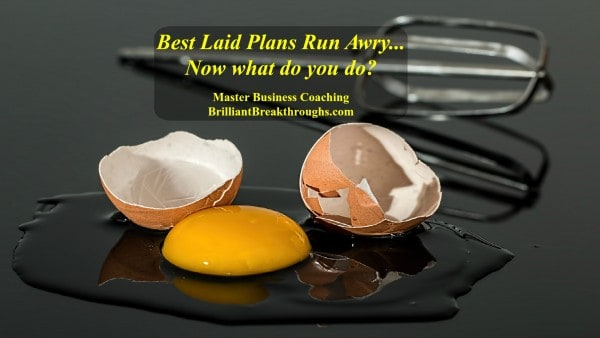 When best laid plans aren't best illustrated by and egg cracked open on the counter with a mixing beater in the background.