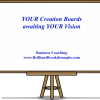 Creations Boards for business success is illustrated as a blank white dry eraser board on an easel.