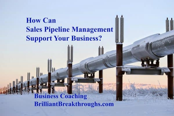 Sales Pipeline illustrated by the Alaskan Oil Pipeline running across a wintry Alaska setting.