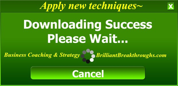 Apply new techniques illustrated by a computerized message window stating