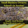 """School's in session illustrated with Scrabble tiles laying out to say """"Back to School""""."""