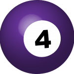 Small Business Coaching by Brilliant Breakthroughs, Inc. 4th Quarter Action Plan illustrated by a #4 pool ball.