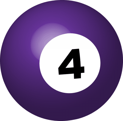 Business Coaching by Brilliant Breakthroughs, Inc. 4th Quarter Action Plan illustrated by a purple #4 pool ball.