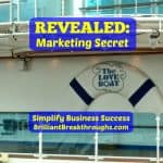 Business Coaching by Brilliant Breakthroughs, Inc. Sharing: Marketing Secret being revealed by image taken while on a cruise.