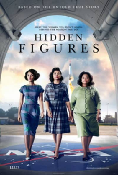 Business Coaching by Brilliant Breakthroughs, Inc. discusses the movie Hidden Figures. Illustration: The official Movie poster of the 3 main characters with a rocket launching behind them.
