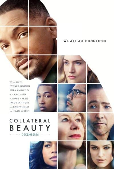 Business Coaching by Brilliant Breakthroughs, Inc. Collateral Beauty movie poster illustrated by the faces of the movie's main characters. Image source: IMDb.com