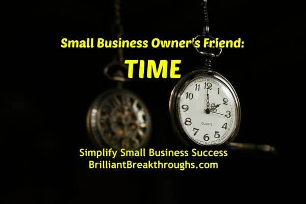 Business Coaching by Brilliant Breakthroughs, Inc. Time illustrated by an antique pocket watch with it's ornate back reflected in a mirror.