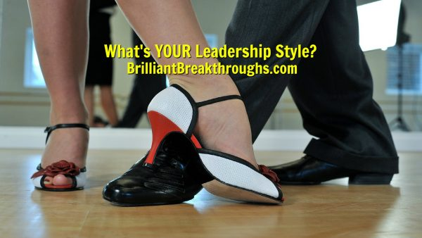 Small Business Coaching by Brilliant Breakthroughs, Inc. Leadership Style illustrated by the dressy dancing shoes of professional dancers.