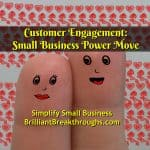 Business Coaching by Brilliant Breakthroughs, Inc. Customer Engagement illustrated by two