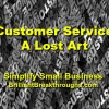 Small Business Coaching by Brilliant Breakthroughs, Inc. Customer Service illustrated by the words CUSTOMER and SERVICE in gray laying on top of each.
