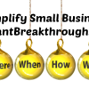 Small Business Coaching by Brilliant Breakthroughs, Inc. Job Descriptions illustrated by glass ornaments asking: who, what, where, when, how, and why.