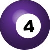 Small Business Coaching by Brilliant Breakthroughs, Inc. 4th Quarter Decisions illustrated by a the #4 Purple colored pool ball.