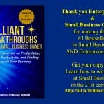 Small Business Coaching by Brilliant Breakthroughs, Inc. Exceeding expectations illustrated by book cover of #1 Bestseller: Brilliant Breakthroughs for the Small Business Owner.