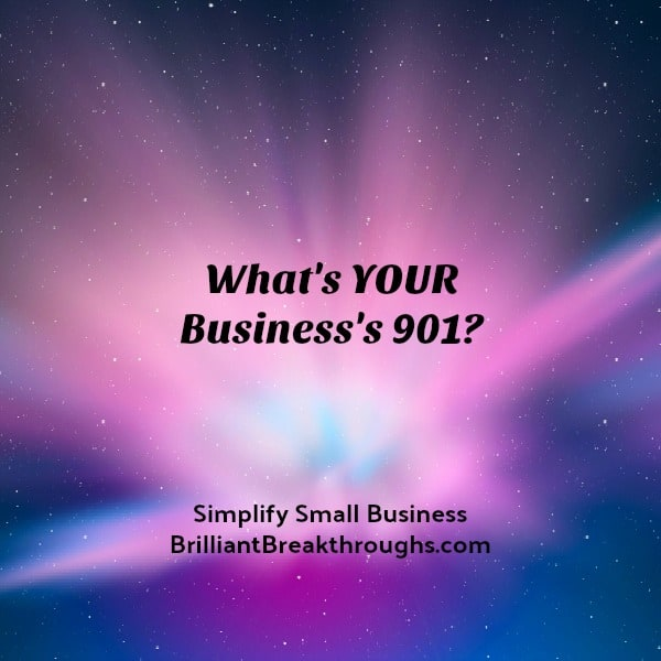 Cosmic starburst with words: What's Your Business's 901?
