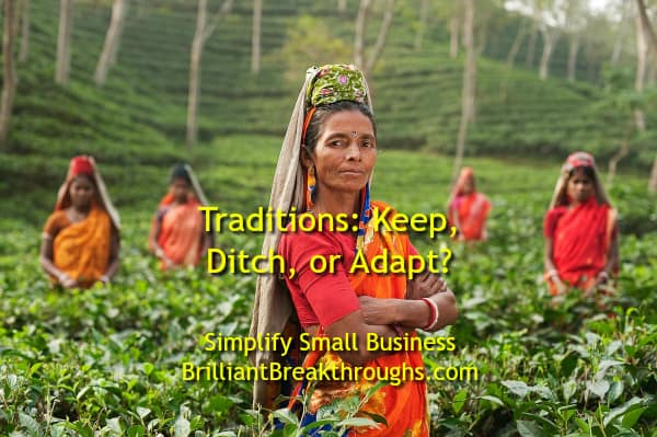 Small Business Coaching by Brilliant Breakthroughs, Inc. Topic: Traditions illustrated by women of India working in the fields in traditional clothes.