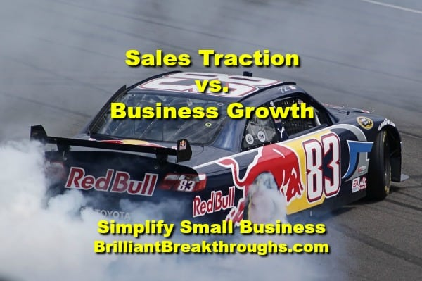 Small Business Coaching by Brilliant Breakthroughs, Inc.  Topic: Traction illustrated by a NASCAR race car doing a burnout.