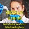 Small Business Coaching by Brilliant Breakthroughs, Inc. Topic: Success illustrated by a female chemist experimenting.
