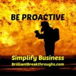 Small Business Coaching by Brilliant Breakthroughs, Inc. Topic: Business Insurance illustrated by a fireman rescuing a baby.