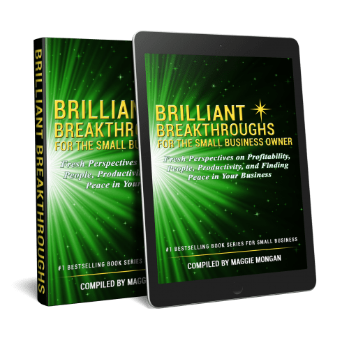 Small Business Coaching by Brilliant Breakthroughs, Inc.  Topic:  BrilliantBizBook App  illustrate by Vol 2 of book series as book and app on tablet.