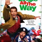 Jingle All the Way Movie Poster. Two dads fighting over a Christmas toy for their sons.