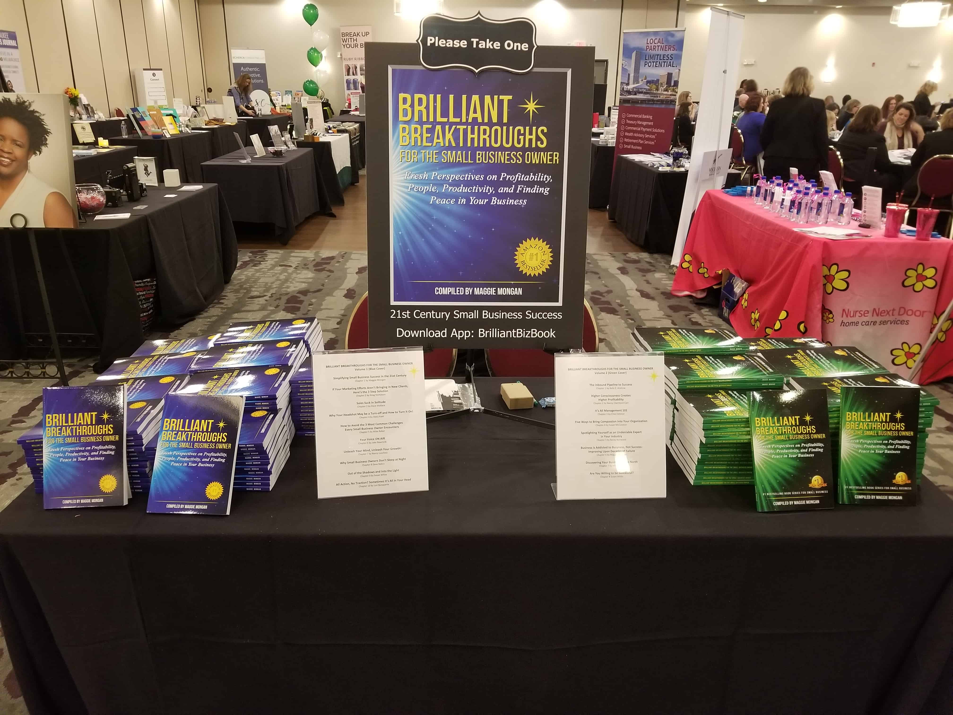 Table of Brilliant Breakthroughs for the Small Business Owner -Vols 1 and 2 at eWN Summit