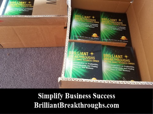 Book order of Brilliant Breakthroughs for the Small Business Owner - Vol 2 cases of books.