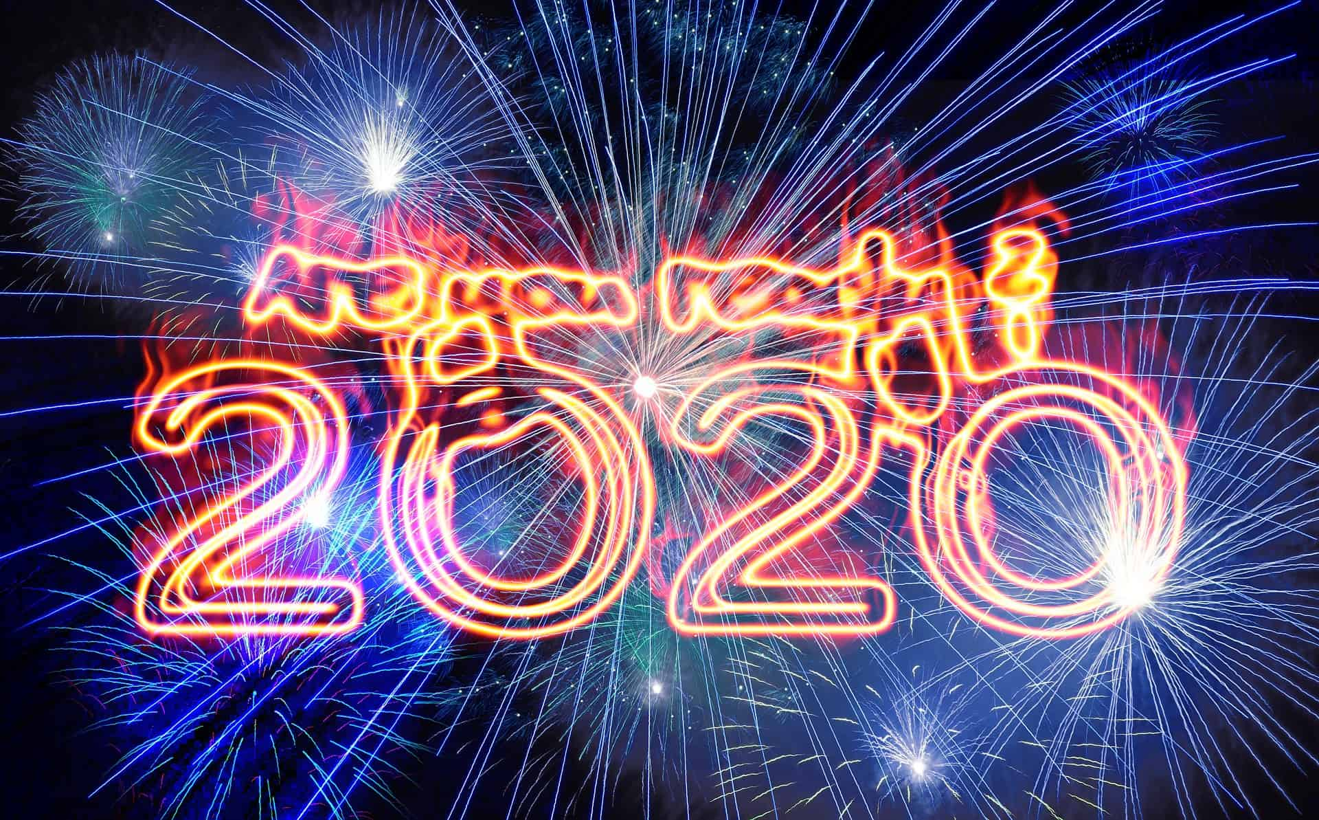 Your 2020 Business Goals and Vision in neon
